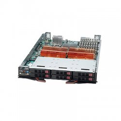 Supermicro - SBI-7125W-S6 - Supermicro SuperBlade SBI-7125W-S6 Barebone System Blade - Intel 5400 Chipset - Socket J LGA-771 - 2 x Processor Support - Black - 64 GB DDR2 SDRAM DDR2-800/PC2-6400 Maximum RAM Support - Serial Attached SCSI (SAS) RAID