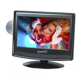 "Supersonic - SC-1312 - Supersonic SC-1312 13.3"" TV/DVD Combo - HDTV - 16:9 - 1366 x 768 - 720p - LED - ATSC - NTSC - 90° / 45° - HDMI - USB"