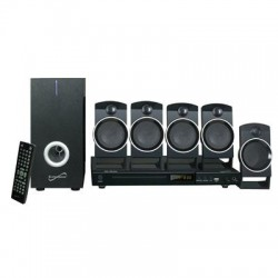 Supersonic - SC-37HT - Supersonic SC-37HT 5.1 Home Theater System - 25 W RMS - DVD Player - CD-RW, DVD-R - DVD Video, VCD, SVCD - USB