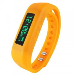 Supersonic - SC-62SWOrange - Supersonic Power X Smart Band - Wrist - Pedometer - Calories Burned - 0.5 - Bluetooth - Bluetooth 4.0 - Orange - Communication, Health & Fitness - Water Resistant