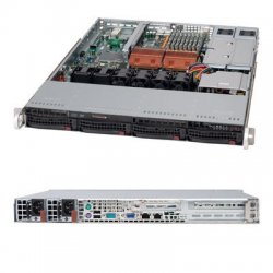 Supermicro - CSE-815TQ-R650UB - Supermicro SC815TQ-R650UV Chassis - Rack-mountable - Black