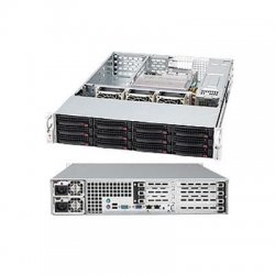 Supermicro - CSE-826A-R1200UB - Supermicro SuperChassis SC826A-R1200UB Rackmount Enclosure - 2U - Rack-mountable - 12 Bays - 1200W - Black