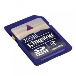 Kingston - SD4/16GB - Kingston 16GB Secure Digital High Capacity (SDHC) Card - Class 4 - 16 GB