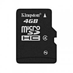 Kingston - SDC4/4GB - Kingston 4GB microSDHC Card - (Class 4) - 4 GB