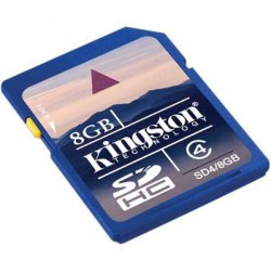 Kingston - SDC4/8GB - Kingston 8GB microSDHC Card - (Class 4) - 8 GB