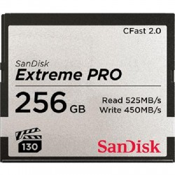 SanDisk - SDCFSP-256G-A46D - SanDisk Extreme Pro 256 GB CFast Card - 525 MB/s Read - 450 MB/s Write - 2933x Memory Speed