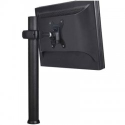 """Atdec - SD-DP-1150 - Spacedec 45.2"""" desk LCD/LED monitor/small TV pole mount - SPACEDEC range 45.2"""" post """"donut"""" style single display mount. Quick shift mechanism for easy height adjustment. Supports displays weighing up to 19.8lbs. VESA 75x75mm &"""