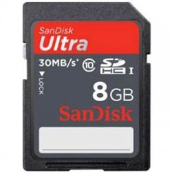 SanDisk - SDSDU-008G-A11 - SanDisk Ultra 8 GB SDHC - UHS-I - 30 MB/s Read - 1 Card