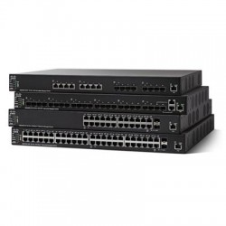 Cisco - SG550X-24-K9-NA - Cisco SG550X-24 Layer 3 Switch - 24 x Gigabit Ethernet Network, 2 x 10 Gigabit Ethernet Uplink, 4 x 10 Gigabit Ethernet Expansion Slot - Manageable - Optical Fiber, Twisted Pair - Modular - 3 Layer Supported - Lifetime Limited