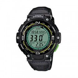 Casio - SGW100B-3A2 - Casio SGW100B-3A2 Smart Watch - Wrist - Altimeter, Barometer, Digital Compass, Thermometer - Alarm, Calendar - 26297.40 Hour - Green - Glass - Sports - Water Resistant - Glass
