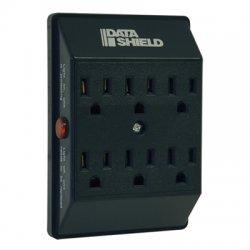 Tripp Lite - SK6-0B - Tripp Lite Surge Protector Wallmount Direct Plug In 120V 6 Outlet 540 Joules Black - Receptacles: 6 x NEMA 5-15R - 540J