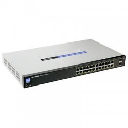 Cisco - SLM2024PT-NA - Cisco SG200-26P switch 24 10/100/1000 ports (12 PoE ports with 100W dedicated power budget)