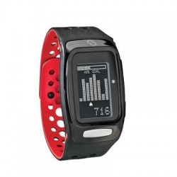 Sportline - SP2227RE - SYNC BURN Smart Band - Wrist - Pedometer - Stopwatch - Heart Rate - Bluetooth - 8765.81 Hour - Black, Red - Tracking, Health & Fitness - Water Resistant