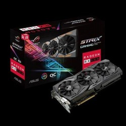 Asus - ROG-STRIX-RX580-O8G-GAMIN - The Vr Rebellion Continues With The Asus Aura Sync-enabled Rog Strix Rx 580 O8g