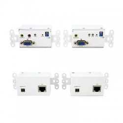 StarTech - STUTPWALLA - StarTech.com VGA Wall Plate Video Extender over Cat5 with Audio - 1 x 1 - WUXGA - 984.25ft