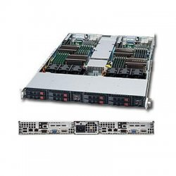 Supermicro - SYS-1026TT-TF - Supermicro SuperServer 1026TT-TF Barebone System - Intel 5500 - Socket B - Xeon (Dual-core), Xeon (Quad-core) - 48GB Memory Support - Gigabit Ethernet, Fast Ethernet - 1U Rack