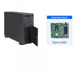 Supermicro - SYS-5046A-XB - Supermicro SuperWorkstation 5046A-XB Barebone System - Intel X58 Express - Socket B - Core i7 (Quad-core), Core i7 Extreme Edition (Quad-core) - 24GB Memory Support - Gigabit Ethernet - 4U Tower