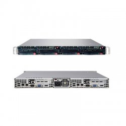 Supermicro - SYS-6015TW-TB - Supermicro SuperServer 6015TW-TB Barebone System - Intel 5400 - Socket J - Xeon (Quad-core), Xeon (Dual-core) - 1600MHz, 1333MHz, 1066MHz Bus Speed - 64GB Memory Support - Gigabit Ethernet - 1U Rack