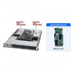 Supermicro - SYS-6016GT-TF - Supermicro SuperServer 6016GT-TF Barebone System - Intel 5520 - Socket B - Xeon (Dual-core), Xeon (Quad-core) - 96GB Memory Support - Gigabit Ethernet, Fast Ethernet - 1U Rack