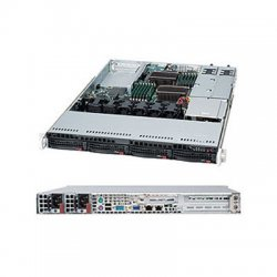 Supermicro - SYS-6016T-NTRF - Supermicro SuperServer 6016T-NTRF Barebone System - Intel 5520 - Socket B - Xeon (Quad-core), Xeon (Dual-core) - 96GB Memory Support - DVD-Reader (DVD-ROM) - Gigabit Ethernet - 1U Rack