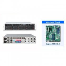 Supermicro - SYS-6026T-3RF - Supermicro SuperServer 6026T-3RF Barebone System - Intel 5520 - Socket B - Xeon (Quad-core), Xeon (Dual-core) - 96GB Memory Support - DVD-Reader (DVD-ROM) - Gigabit Ethernet, Fast Ethernet - 2U Rack