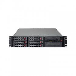 Supermicro - SYS-6026T-TF - Supermicro SuperServer 6026T-TF Barebone System - 2U Rack-mountable - Intel 5520 Chipset - Socket B LGA-1366 - 2 x Processor Support - Black - 192 GB DDR3 SDRAM DDR3-1066/PC3-8500 Maximum RAM Support - Serial ATA/300 RAID