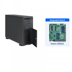 Supermicro - SYS-7046A-3 - Supermicro SuperServer 7046A-3 Barebone System - Intel 5520 - Socket B - Xeon (Dual-core), Xeon (Quad-core) - 96GB Memory Support - Gigabit Ethernet, Gigabit Ethernet - 4U Tower