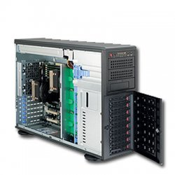 Supermicro - SYS-7046T-3R - Supermicro SuperServer 7046T-3R Barebone System - Intel 5520 - Socket B - Xeon (Dual-core), Xeon (Quad-core) - 96GB Memory Support - Gigabit Ethernet - 4U Tower