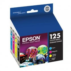 Epson - T125120-BCS - Epson DURABrite 125 Original Ink Cartridge - Inkjet - Black, Cyan, Magenta, Yellow - 4 / Pack