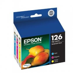 Epson - T126520 - Epson DURABrite 126 High Capacity Multi-Pack Ink Cartridge - Inkjet - 480 Page - 3 / Pack