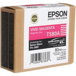 Epson - T580A00 - Epson UltraChrome K3 Original Ink Cartridge - Inkjet - Magenta - 1 Each
