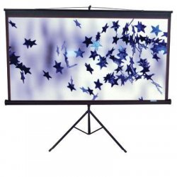 Elite Screens - T84UWV1 - Elite Screens T84UWV1 Tripod Portable Tripod Manual Pull Up Projection Screen (84 4:3 Aspect Ratio) (MaxWhite) - 50 x 67 - MaxWhite - 84 Diagonal