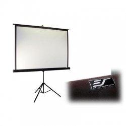 """Elite Screens - T99UWS1-PRO - Elite Screens T99UWS1-Pro Tripod Pro Portable Tripod Manual Pull Up Projection Screen (99"""" 1:1 Aspect Ratio) (MaxWhite) - 70"""" x 70"""" - MaxWhite"""