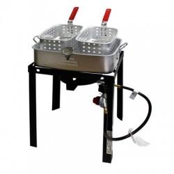 Metal Ware / Nesco - TBAPF18 - Chard Dual Fryer Basket 18qt