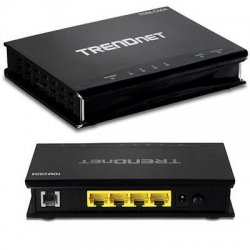 TRENDnet - TDM-C504 - TRENDnet TDM-C504 Modem Router - 5 Ports - SlotsFast Ethernet - DSL - ADSL - Desktop