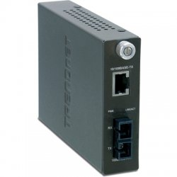 TRENDnet - TFC-1000S70 - TRENDnet Intelligent 1000Base-T to 1000Base-FX Single Mode SC Fiber Converter - 1 x RJ-45 , 1 x SC - 1000Base-T, 1000Base-LX/SX