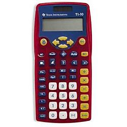 Texas Instruments - 10/TKT/2L1/A - Texas Instruments TI-10 Scientific Calculator - Battery/Solar Powered - 5.2 x 5.3 x 6 - Multi