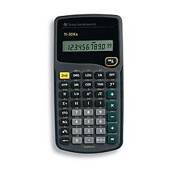 Texas Instruments - 30XA/TBL/1L1/H - Texas Instruments TI-30Xa Scientific Calculator - Plastic Key, Impact Resistant Cover - 1 Line(s) - 10 Digits - Battery Powered - Black - 1