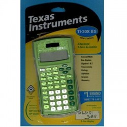 Texas Instruments - 30XIIS/TBL/1L1/AR - Texas Instruments TI-30X IIS Scientific Calculator - 2 Line(s) - 10 Digits - LCD - Solar Powered - Lime Green