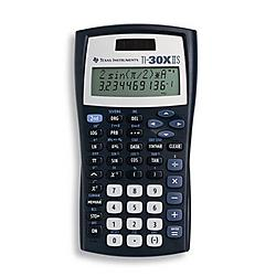 Texas Instruments - 30XIISTKT1L1B - Texas Instruments TI-30X IIS Scientific Calculator - 2 Line(s) - LCD - Battery/Solar Powered