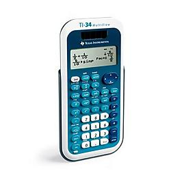 Texas Instruments - 34MV/TBL/1L1/A - Texas Instruments TI-34 MultiView Calculator - 4 Line(s) - 16 Digits - LCD - Battery/Solar Powered - Plastic