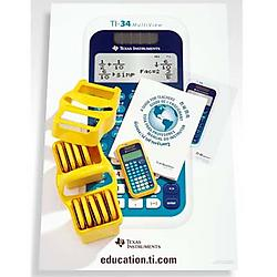 Texas Instruments - 34MV/TKT/1L1/A - Texas Instruments MultiView TI-34 EZ Spot Teacher Kit - 4 Line(s) - 16 Digits - LCD - Battery/Solar Powered