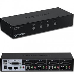 TRENDnet - TK-422DVK - TRENDnet 4-Port DVI KVM Switch Kit - 4 Computer(s) - 1 Local User(s) - 2560 x 1600 - 8 x USB - 5 x DVI