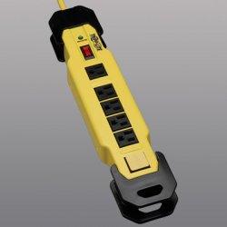 Tripp Lite - TLM615SA - Tripp Lite Safety Surge Protector Strip 120V 6 Outlet 15' Cord OSHA - Receptacles: 6 x NEMA 5-15R - 2700J