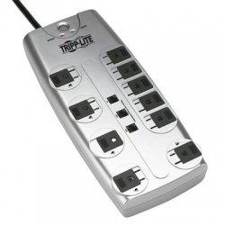 Tripp Lite - TLP1008TEL - Tripp Lite Surge Protector 120V 10 Outlet RJ11 8' Cord 2395 Joule - 10 x NEMA 5-15R - 1.80 kVA - 2395 J - 120 V AC Input - 120 V AC Output - Fax/Modem/Phone