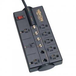 Tripp Lite - TLP810SAT - Tripp Lite Surge Protector Power Strip 120V 8 Outlet RJ11 Coax 10' Cord 3240 Joule - Receptacles: 8 x NEMA 5-15R - 3240J