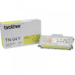 Brother International - TN-04Y - Brother Original Toner Cartridge - Laser - 6600 Pages - Yellow - 1 Each