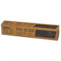 Brother International - TN12BK - Brother TN12BK Toner Cartridge - Laser - 9000 Pages - Black - 1 Each