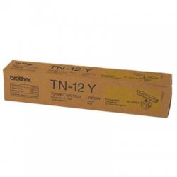 Brother International - TN12Y - Brother TN12Y Toner Cartridge - Laser - 6000 Pages - Yellow - 1 Each