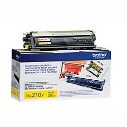 Brother International - TN210Y - Brother Genuine TN210Y Yellow Toner Cartridge - Laser - 1400 Pages - Yellow - 1 Each